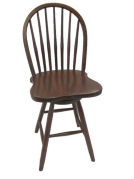 Amish 7-Spindle Swivel Windsor Barstool