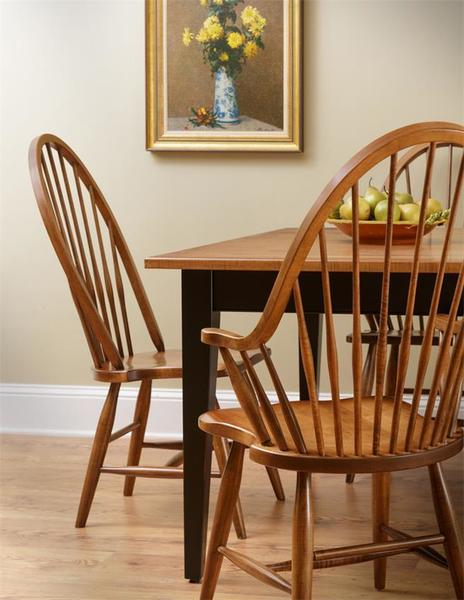 Amish Maple Windsor High Back Chair