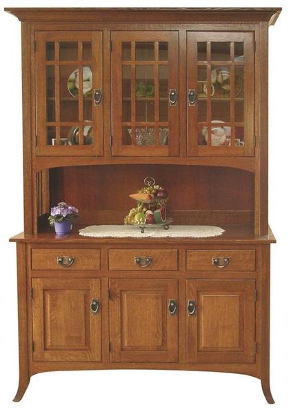 Amish Open Mission Hutch