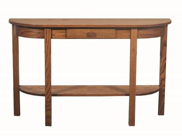 Amish Heritage Mission Half-Moon Console Table
