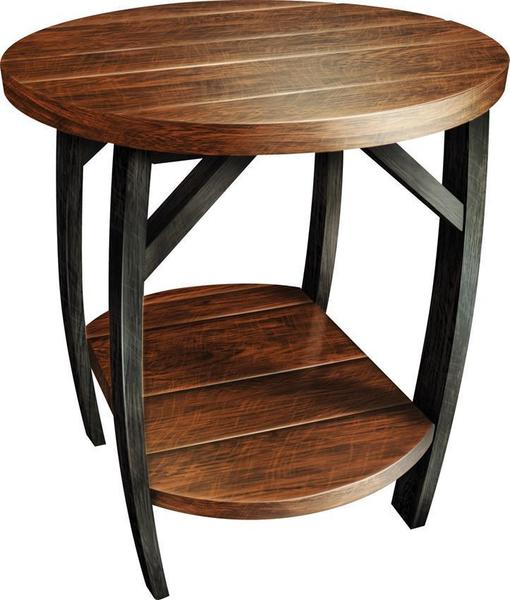 Amish Whiskey Barrel End Table