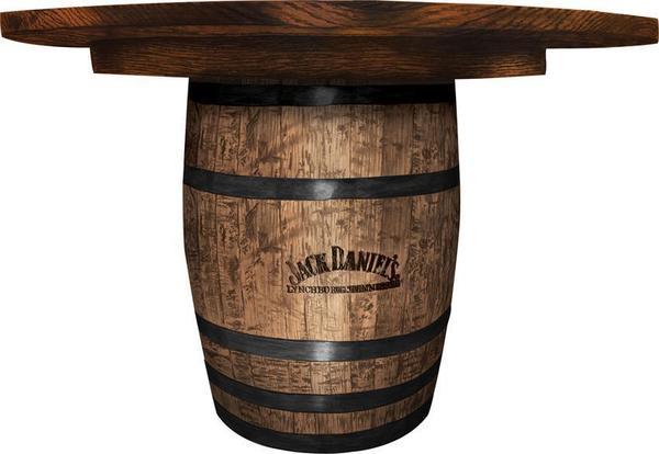 Amish Round Whiskey Barrel Dining Table
