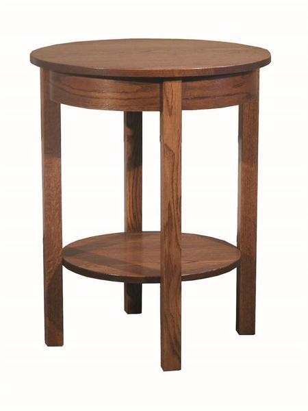 Amish Heritage Mission Round End Table