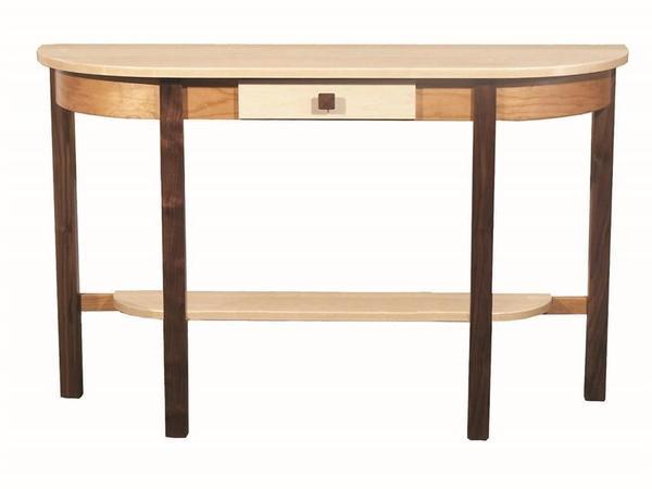 Amish Trinity Half-Moon Console Table