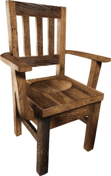Amish Settler's Reclaimed Barnwood Dining Chair