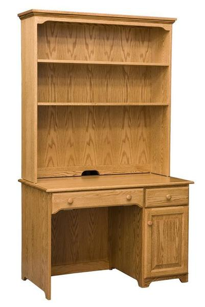 Amish Noble Mission Student PC Desk with Optional Hutch Top