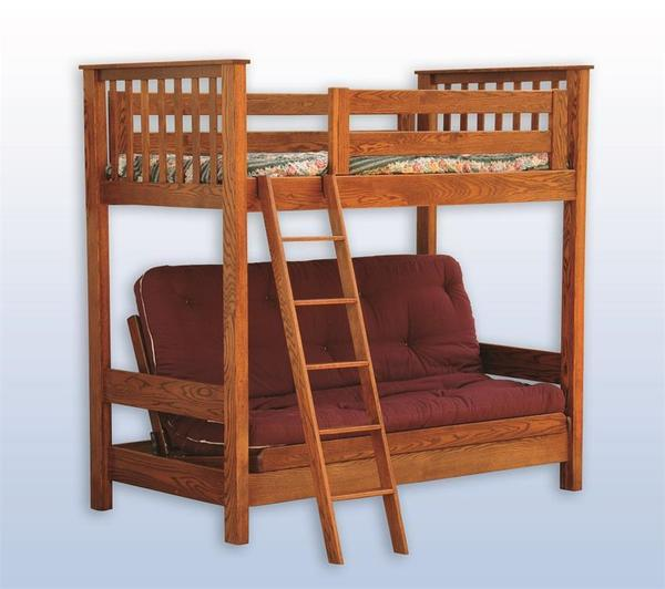 Kids Futon Loft Bed From Dutchcrafters