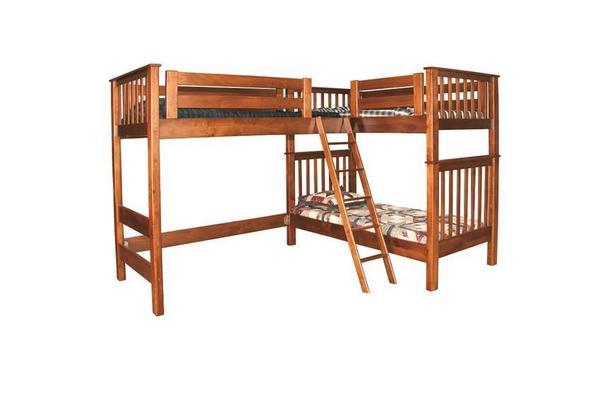 Amish Triple Trouble Loft Bunk Bed