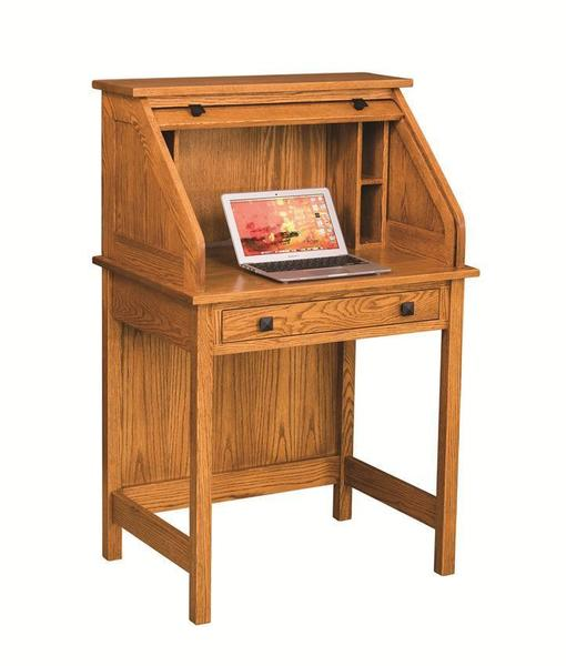 "Amish 30"" Post Mission Rolltop Laptop Desk"