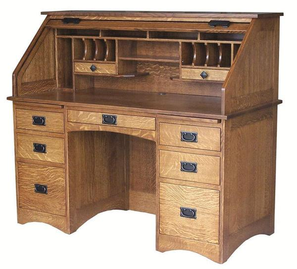 Amish Mission Roll-Top Desk