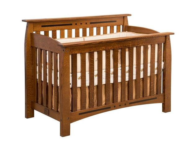 Amish Rosewood Convertible Crib