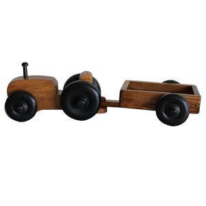 American Made Small Wooden Toy Tractor Wagon