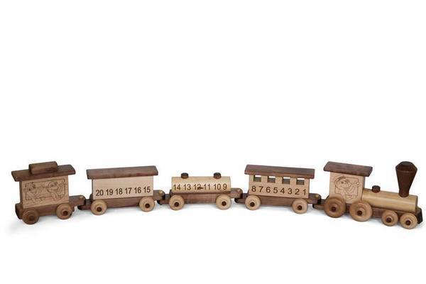 Amish Wooden ABC Train