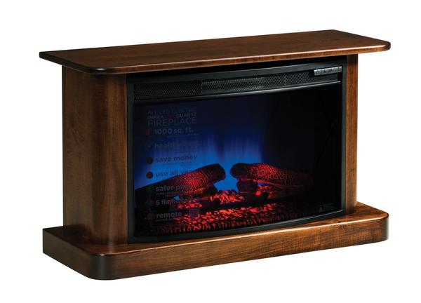 Amish Lancaster Electric Fireplace with Remote