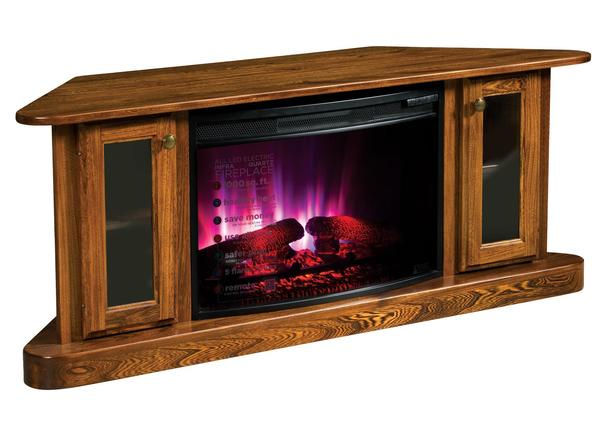 Cascadia Corner Electric Fireplace With Tv Stand From