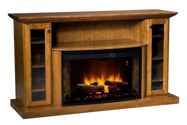 "Amish 64"" Electric Fireplace Entertainment Center"