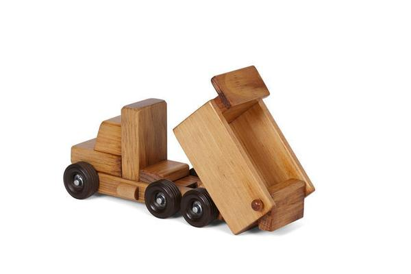 American Made Small Wooden Toy Dump Truck