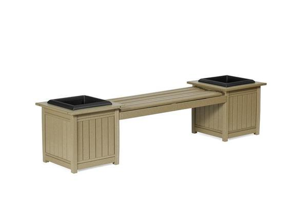 Amish Leisure Lawns Poly Planter Bench