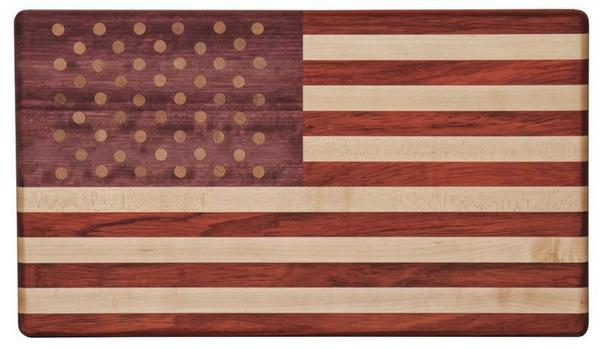 Exotic Wood American Flag Cutting Board