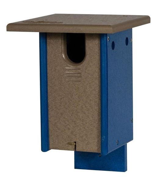 Amish Poly Small Sparrow Resistant Blue Bird House