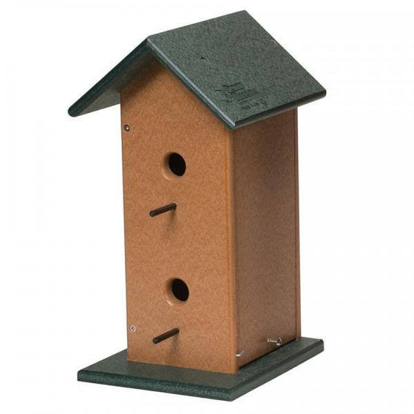 Amish Recycled Poly Double Bird House