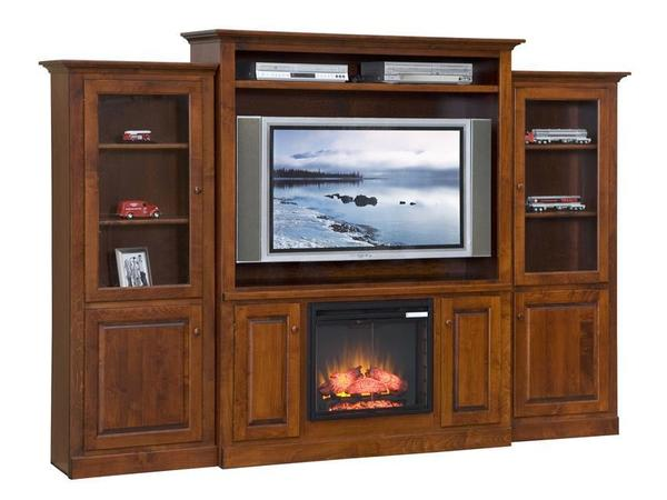 Amish Mayfair Electric Fireplace Entertainment Center