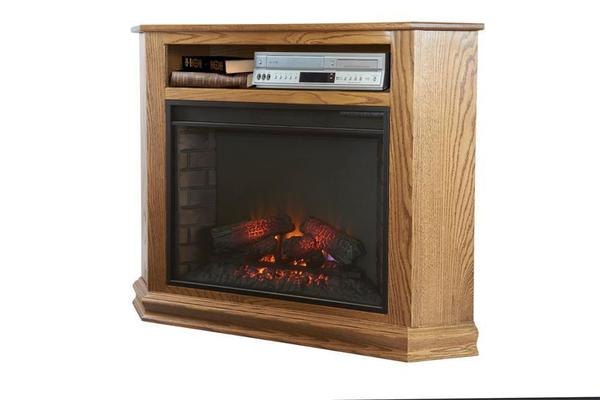 Amish Finchley Corner Electric Fireplace TV Stand