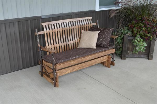 Amish Made Hickory Wood Porch Glider