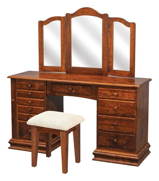 "Amish 56"" Clockbase Jewelry Vanity"