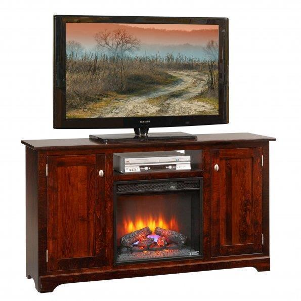 "Amish Latimer 61"" Electric Fireplace TV Stand"