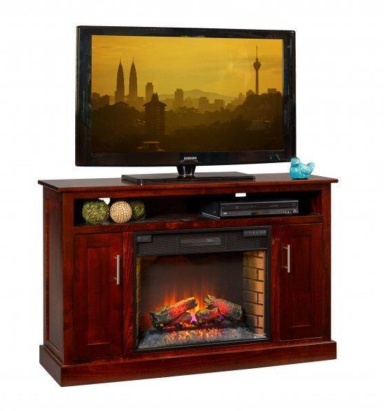 "Amish Elm Park 57"" Electric Fireplace TV Stand"