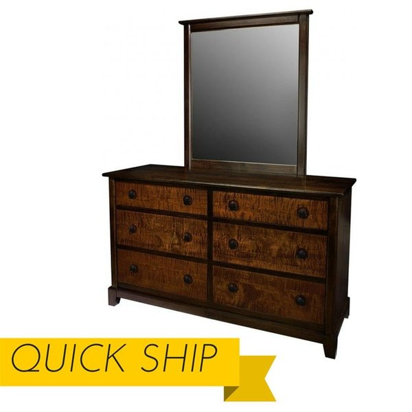 Chesapeaka Six Drawer Dresser and Matching Mirror - Quick Ship