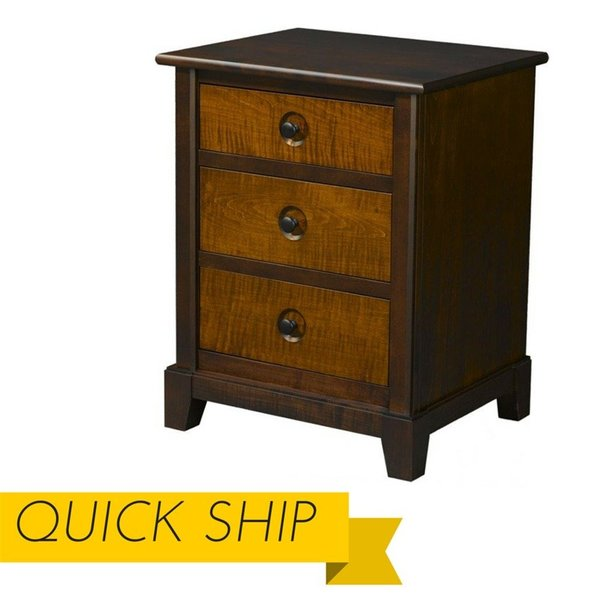 Chesapeaka Three Drawer Nightstand - Quick Ship