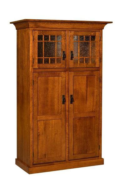 Amish Norway Mission 4-Door Pantry