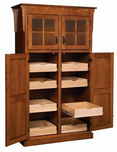 Amish Heritage Mission 4-Door Pantry