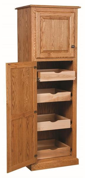 Amish Traditional 2-Door Pantry Cabinet