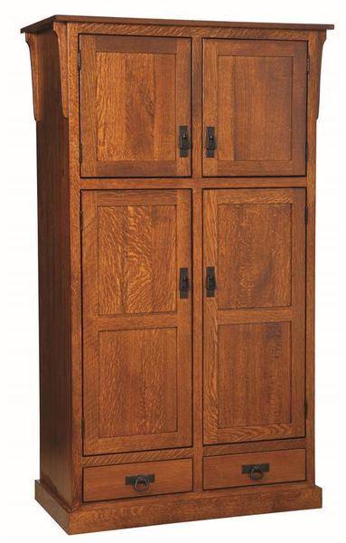 Amish Mission 4-Door Pantry