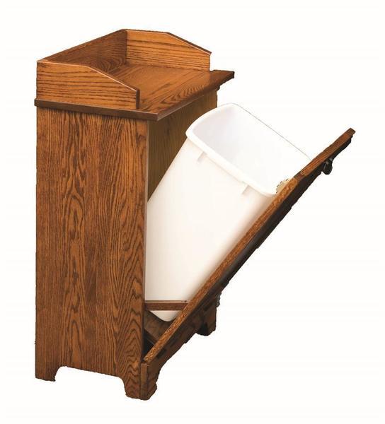 Amish Solid Wood Mission Tilt Out Trash Bin
