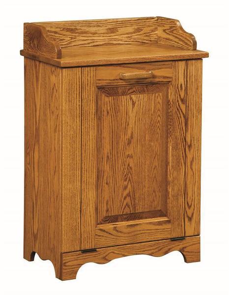 Amish Wood Tilt Out Trash Bin or Laundry Hamper