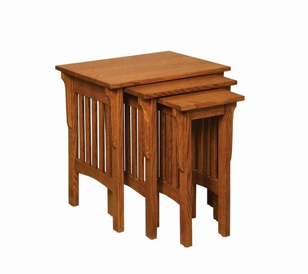 Amish Corbel Mission Nesting End Tables
