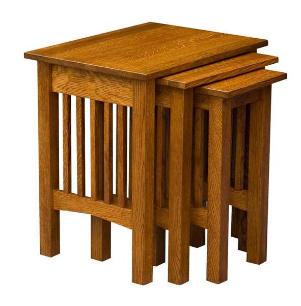 Amish Mission Nesting Table Set