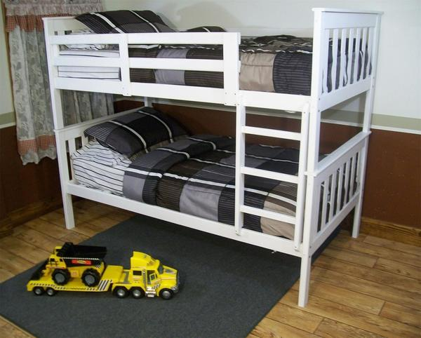 DutchCrafters Amish Kids Twin over Twin Bunk Bed