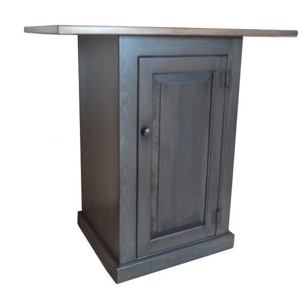 Amish Pine Kitchen Island with Door