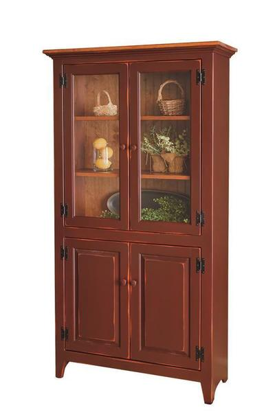 Amish Pine Four Door Pantry