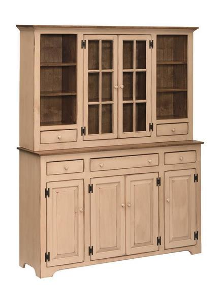 Amish Large Country Pine Hutch
