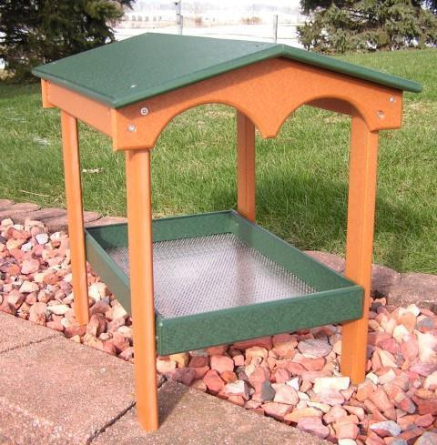 Amish Poly Covered Ground Bird Feeder