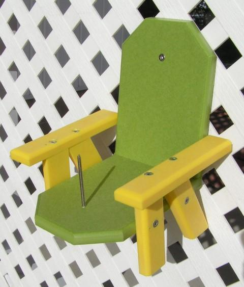 Amish Poly Squirrel Corn Cob Feeder Chair