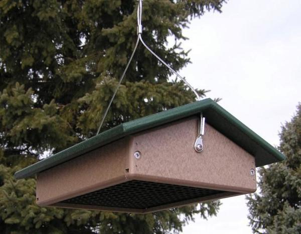 Amish Poly Large Upside Down Suet Bird Feeder