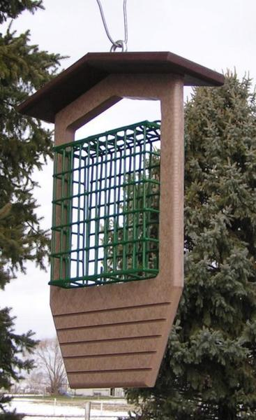 Amish Poly Single Suet Bird Feeder