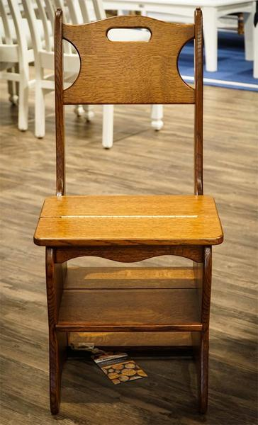 Genial Amish Library Chair And Step Stool Combo